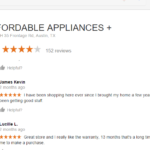 affordable appliance austin fake reviews