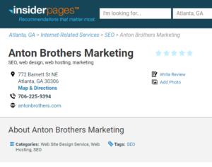 Anton Brothers Marketing Atlanta Georgia Insider Pages