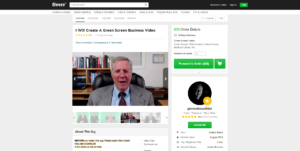 create a green screen business video Fiverr