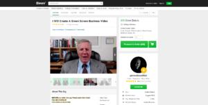 create a green screen business video Fiverr