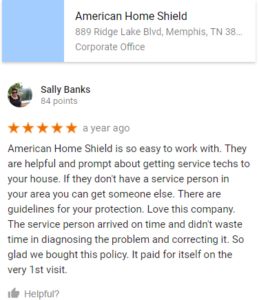 Sally Banks American Home Shield Fake Review