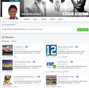 Sarah Mcmillian fake reviews on Facebook