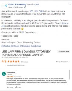 cloud 9 marketing Jee Law Firm