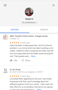 The H Law Group reviews with termite service