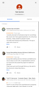 Tyler Sanchez fake reviews