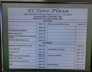 el toro plaza directory