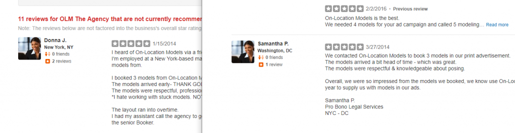 OLM Yelp reviews