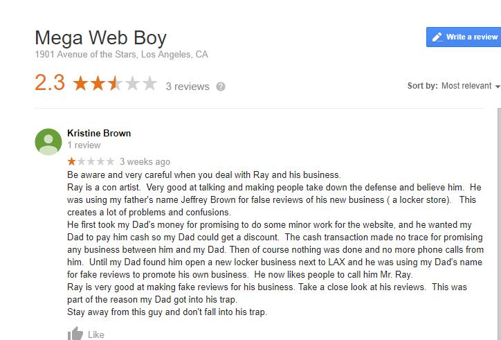 Mega Web Boy Negative review